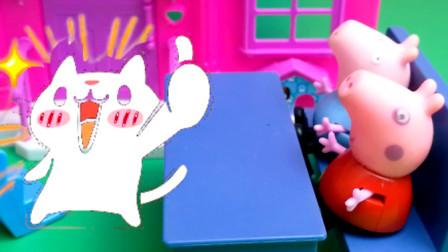 小猪佩奇玩滑滑梯儿童故事