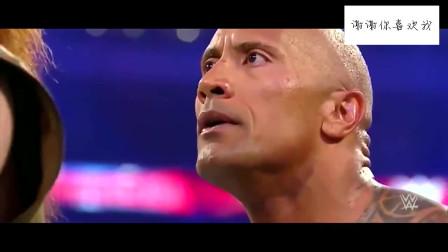 WWE这应该是摔角史上最快的KO,巨石强森不到10秒轻松获胜