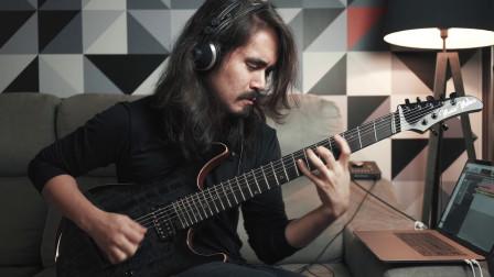 看巴西吉他大神演奏的七弦电吉他精彩乐句