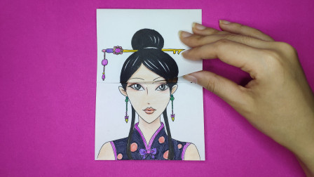 用一张普通的纸画精灵梦叶罗丽辛灵3次升级造型,终极变脸美哭了