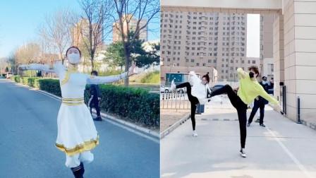 蒙古舞蹈太爱了!美女帅哥大跳《站在草原望北京》,豪迈大气
