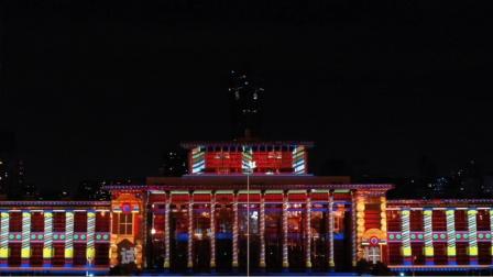 武林广场3D mapping航拍2K