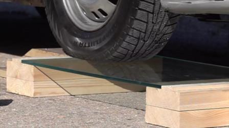 汽车解压实验:汽车轮胎和玻璃,期不期待实验结果?