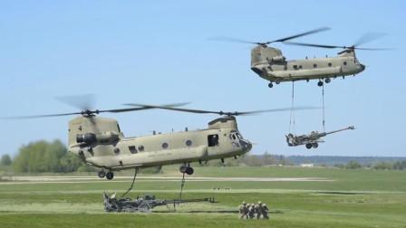 会飞的炮兵,美军支奴干直升机调运炮兵实施蛙跳战术