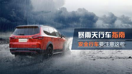 暴雨天行车指南,这些行车安全项要注意