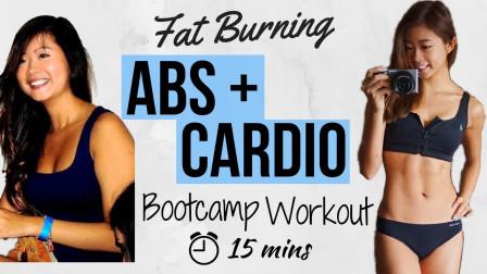 15分鐘超爆汗高強度腹部+減脂帶氧訓練! 在家減肚腩超有效~Emi