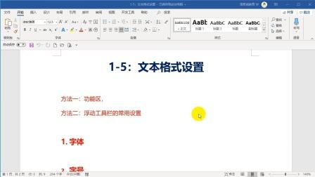1-5:文本的格式设置.wmv