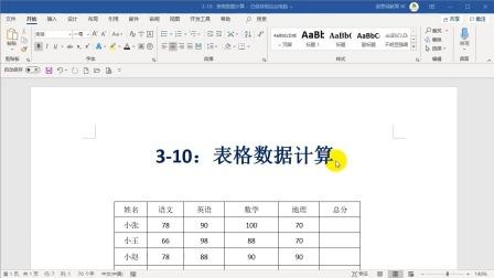 3-10:表格数据计算.wmv