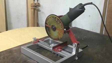 能想出来的也是人才,用这种方法改造的角磨机,功能也太强大了