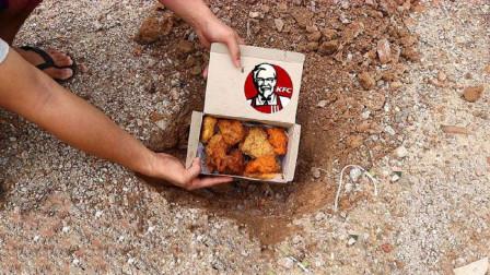 肯德基埋在地下一个月还能吃吗?老外的料理方式太新奇