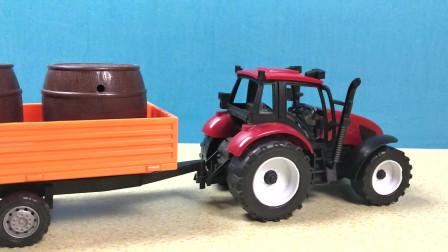 最酷最热的儿童喜爱的玩具车 好玩的拖拉机水罐车大卡车农用车