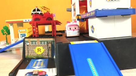 儿童组装玩具,警车珀利消防车罗伊救护车安巴直升机海利救援队 ! 最酷最热的儿童玩具!