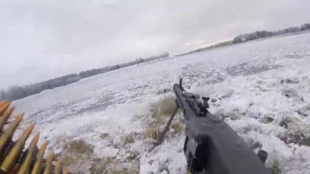 现场试射MG3机枪,体验织布机飞一般的速射感觉