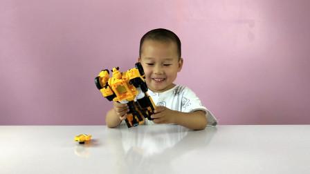 儿童变形玩具,迷你特工队变形机器人变形机甲车迷你特工变形合体!
