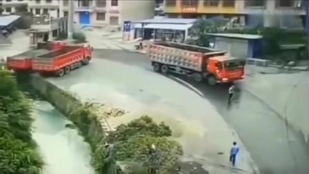 """""""自杀式""""的车祸,作死男子碰瓷大货车!当场结束了自己"""