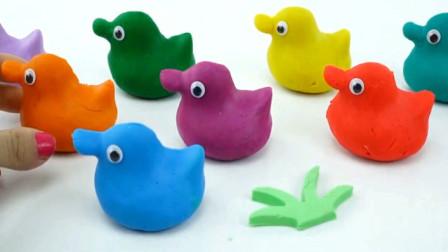 用太空沙彩泥鸭子制作成各种蔬菜胡萝卜 创意玩具