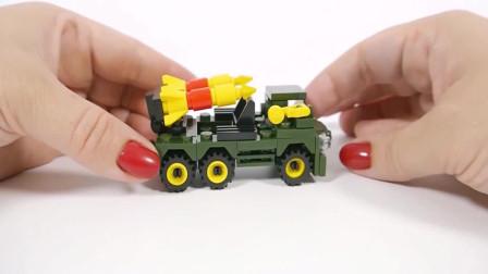 玩具火箭发射车的拼装
