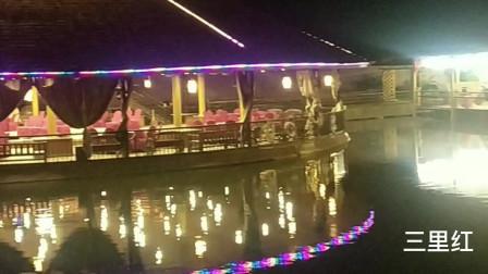 广西上林淘金乐园水上舞台夜景迷人醉