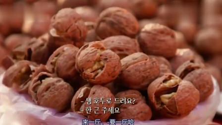 韩综:白钟元大叔逛西安早市 石子馍鲜核桃吃了直说好