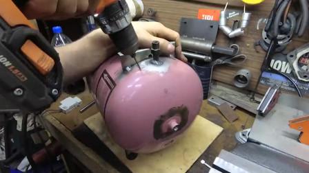 旧煤气罐能干嘛,看牛人这么搞,直接省几百块买空压机