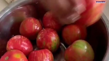 小时候的味道,长大了没吃到过了,城里找不到这种西红柿!