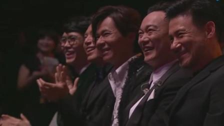 庾澄庆当着歌神张学友的面唱张学友的歌,张学友在台下笑了