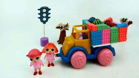 创意玩具 用橡皮泥彩泥制作货车车厢运输玩具球