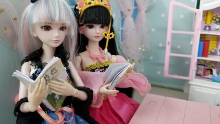 叶罗丽故事 快期考了,罗丽和白光莹都好认真复习,超棒的!