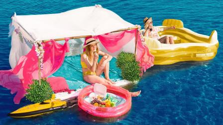 在水上生活24小时是什么体验?美女大胆一试,网友:真会享受!