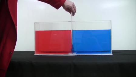 老外用冷水和热水相融进行实验,会发什么变化呢?