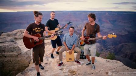 乐队也是难,唱个翻唱,取个景都得冒生命危险