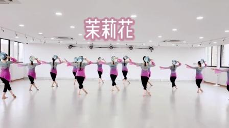 周雨奇原创舞蹈#茉莉花#新编队形版,最经典的美