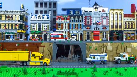 挖掘机隧道施工  & 其他儿童玩具车