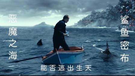 男子误入恶魔之海,鲨鱼密布,危险来临,能否逃出升天!