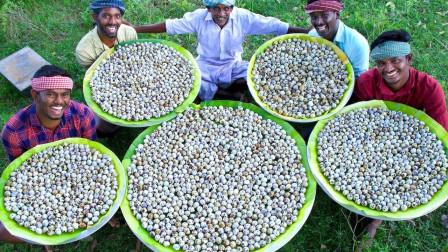 世界上最多的鹌鹑蛋大餐,印度牛人用3000鹌鹑蛋,打造巨型鹌鹑蛋!