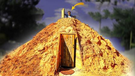 """小伙脑洞大开,在自家后院建造""""金字塔""""堡垒,结果嗨到停不下来!"""