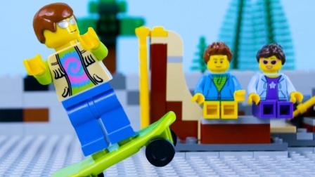 乐高城市滑板公园故障停止动作乐高街机失败第二部分#乐高城市