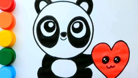 我们一起来画画小熊猫吧 亲子益智