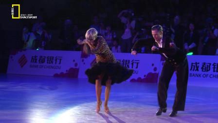 回顾经典,2012成都国际体育舞蹈节,马提诺&米歇尔经典恰恰舞步