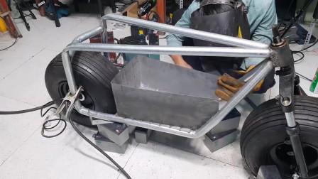 怎样纯手工自制一台电动车,动力强劲,造型独一无二