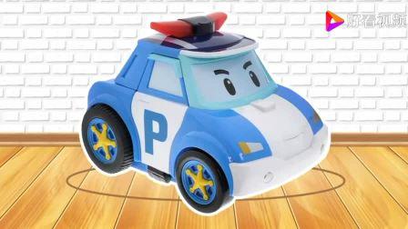 最新汽车总动员变形警车动画片2