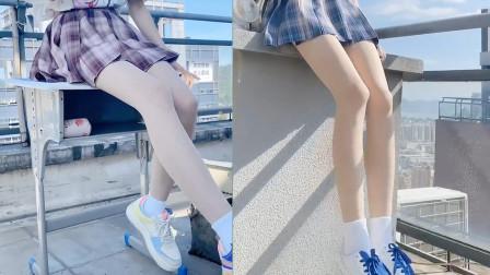 靓丽的风景线!高颜值小姐姐的逆天大长腿,简直太养眼了