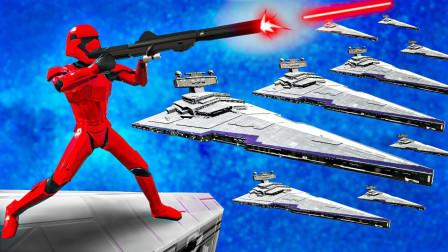 战地模拟器!星球大战宇宙战舰对决地球飞船!面面解说