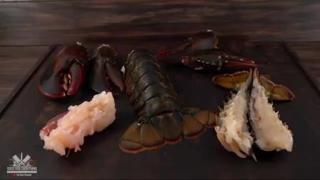 拿来新鲜的龙虾,看看美国土豪如何烹饪的,这样吃起来才过瘾!