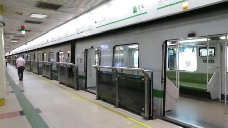 上海地铁2号线206号车龙阳路站下行出站(徐泾东站方向)