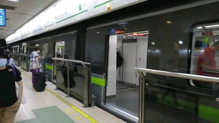 上海地铁2号线297号车龙阳路站上行出站(广兰路站方向)