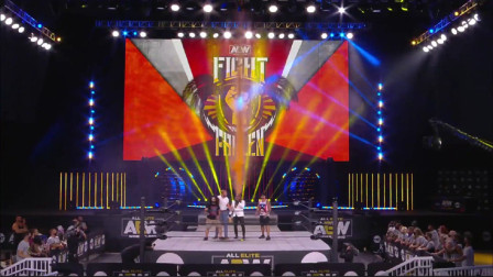 【AEW】Fight For The Fallen:杨二姐惨遭橘色瀑布洗礼,疯人院长激战大肌霸!