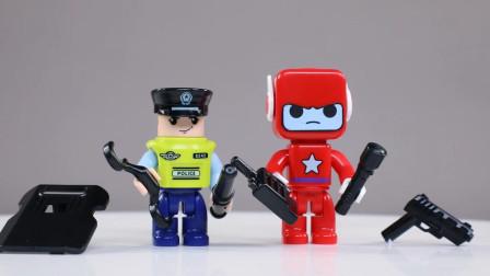 城市英雄系列之积木警车出动执行任务