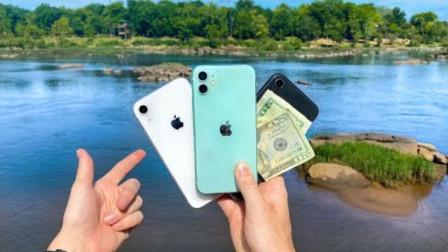 小伙水下寻宝,竟意外收获一堆苹果手机,结局实在太暖心了!