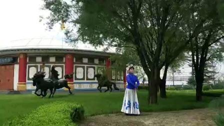 《我在纳林湖等着你》完整版,小莹老师原创作品。外景地北京园博园蒙古园。